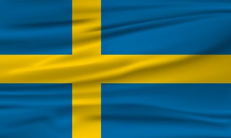 Vector Flag of Sweden. Vector illustration