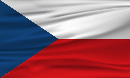 Vector flag of the Czech Republic. Vector illustration