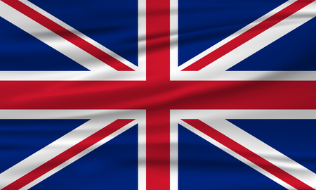 Vector flag of the United Kingdom, Great Britain. Vector illustration