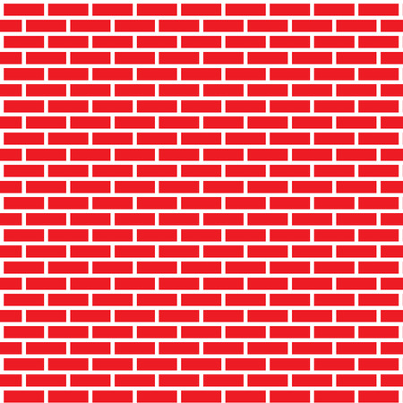 Seamless background from a red brick. Illustration