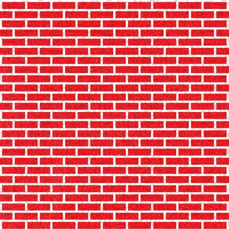 Background of red bricks. Seamless pattern Stock Photo
