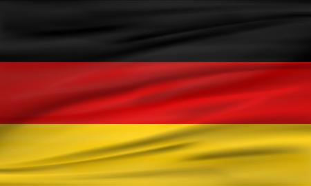 Flag of Germany. Flag illustration