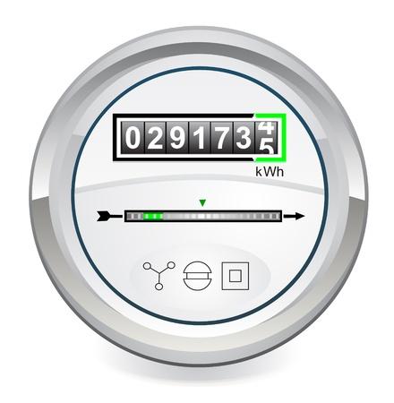 elektriciteit: Energie meter Stock Illustratie