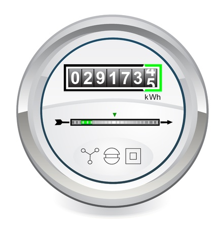 kilowatt: Energy meter Illustration