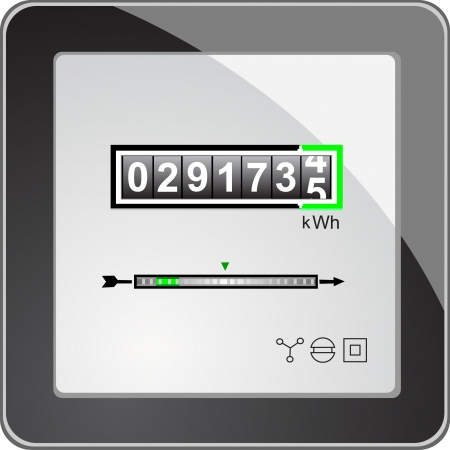 electricity: Energy meter Illustration