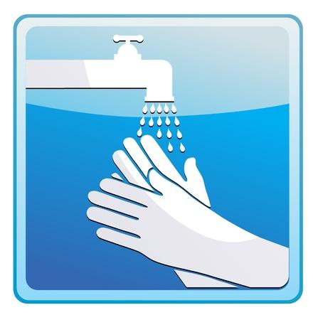 Se laver les mains Illustration
