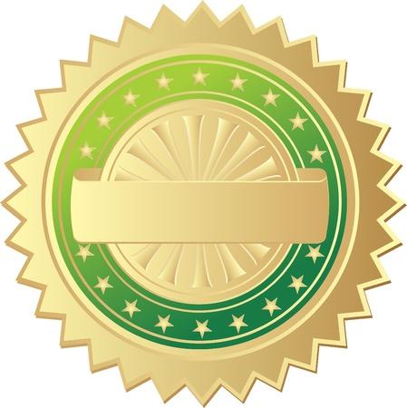 Gouden zegel Vector Illustratie