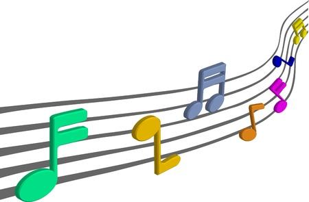Notas de la música en pentagramas Foto de archivo - 13520462