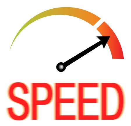compteur de vitesse: Compteur de vitesse Speed Illustration