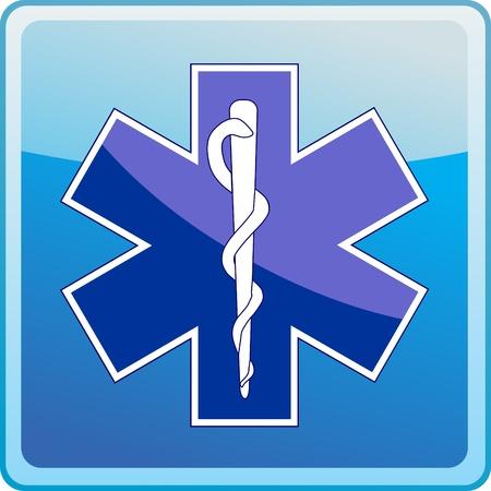 esculapio: Medicina s�mbolo del icono