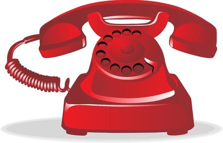 telefono antico: Red telefono retrò Vettoriali