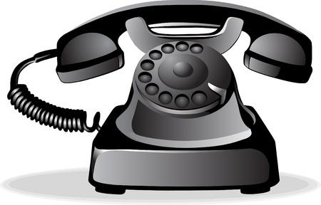 telefono antico: Telefono Vintage Vettoriali