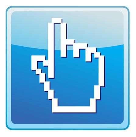 www arm: hand cursor icon