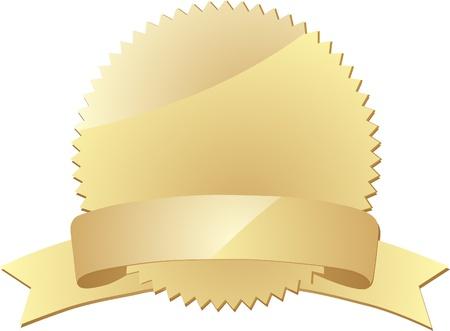 Blank gold label  Vector  Vector