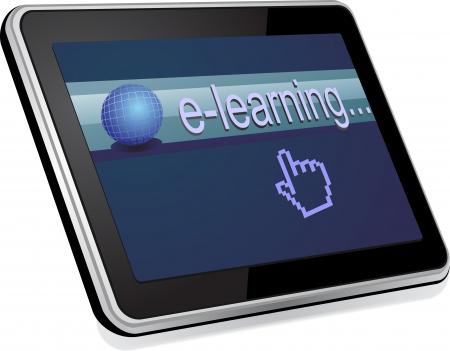 elearning: Tablet computer  Illustration