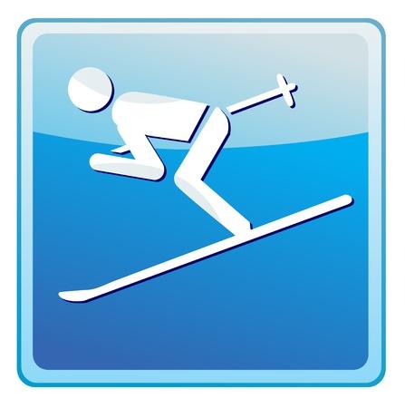 Ski sign icon Stock Vector - 13521382