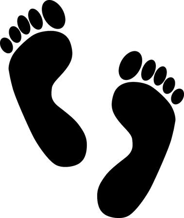 pies: Huellas - dise�o de los elementos de imagen Vectores