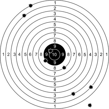 Shot on target Stock Vector - 13521252