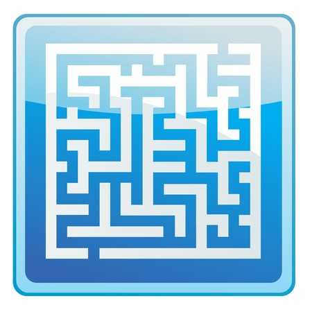 solved maze puzzle: labirinth icon