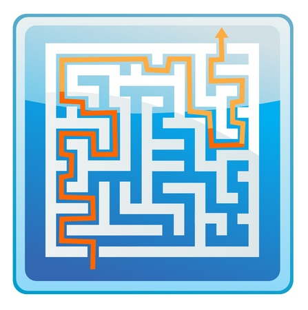 Maze Solution icon Vector