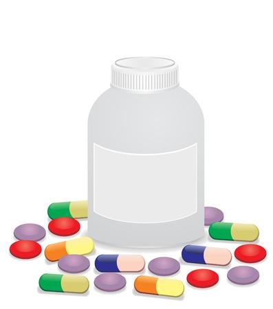 medicine tablets Vector