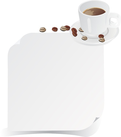 menu with cup of coffee Vector