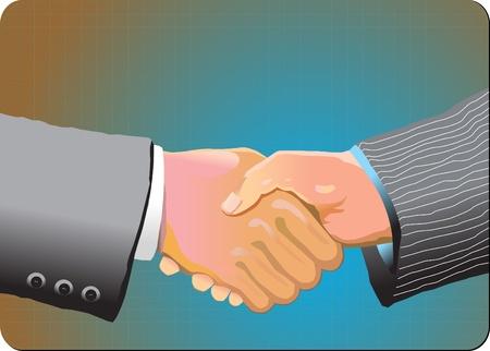 pacto: Dos hombre de negocios dando la mano