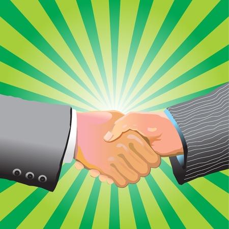 Two businessman shaking hands  Illustration