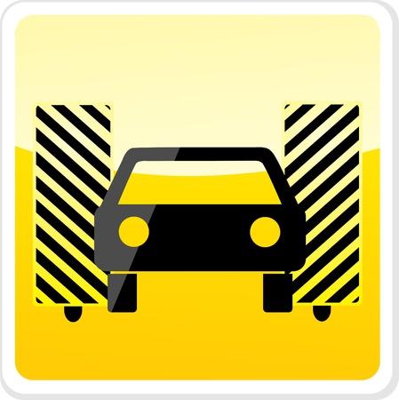 washes: car wash icon Illustration
