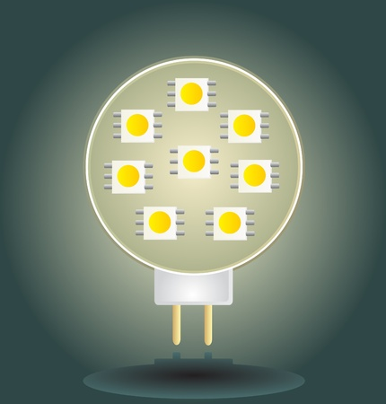 emitting: Led light bulb Illustration