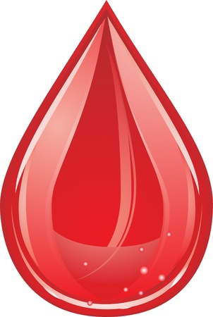 transfusion: blood drop Illustration