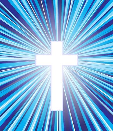 religious celebration: cross against the sky  Illustration