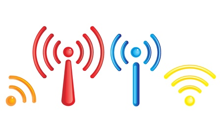 wi fi icon: wifi conception vector Illustration