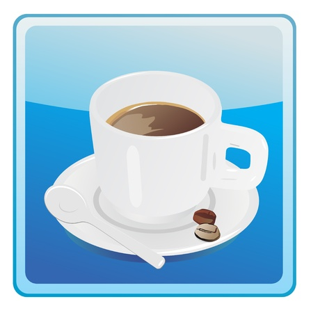 lliquid: Coffee cup icon Illustration