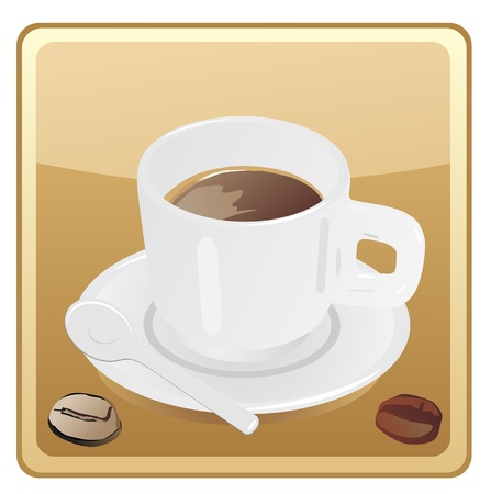 bitter: Coffee cup icon Illustration