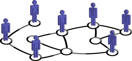 red social Ilustración de vector