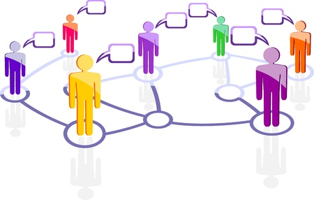 global networking: red social Vectores
