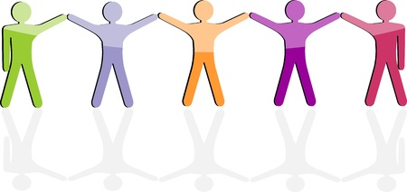 social worker: Team work icon  Business seamless background, friendship communication, people  Vector company employees  Graphic social network, worker  Community equality staff