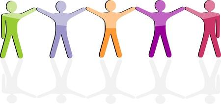 sozialarbeit: Teamarbeit Business-Symbol nahtlose Hintergrund, Freundschaft Kommunikation, Menschen Vector Mitarbeiter der Firma Graphic soziales Netzwerk, Arbeiter Gemeinschaft Gleichheit Mitarbeiter
