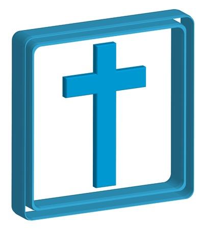 mormon: cross, symbol of the Christian 3d icon