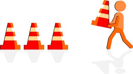 road work Stock Vector - 13585970