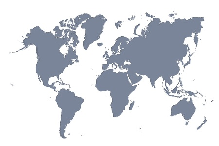Dimensional D Wold Map With USA Europe Africa The Americas And - Europe us map