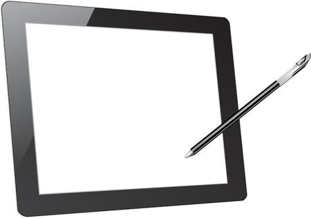 Vecteur ordinateur tablette