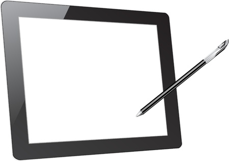 blank computer screen: Vector computer tablet