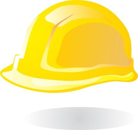 bauarbeiterhelm: Vektor-Illustration von hardhat vor wei�em Hintergrund