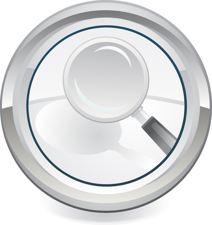Magnifier icon Stock Vector - 13626497