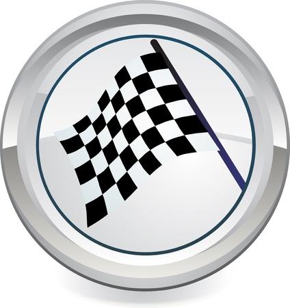 rallying: Bandera de Racing, el vector Vectores