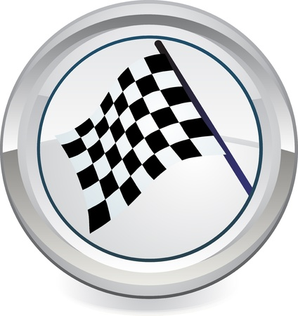 Racing Flag, vector  Vector
