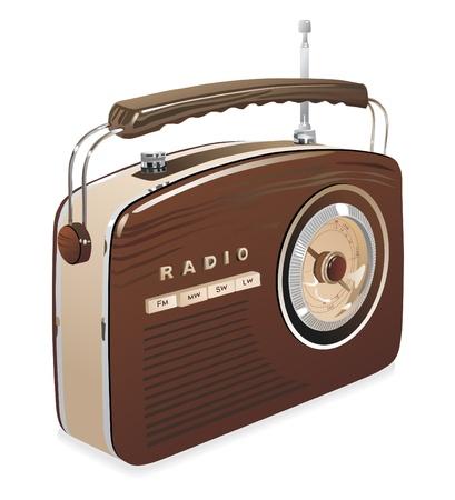 speaker box: Retro of radio Illustration