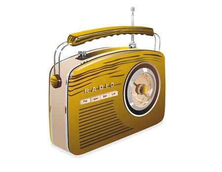 Rétro de la radio Banque d'images - 13649668